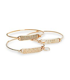 GUESS Crystal Accent Bracelet Set