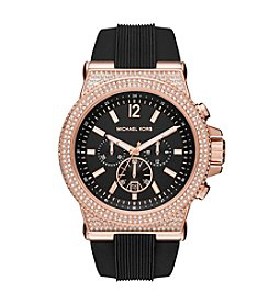 Michael Kors® Women's 48mm Dylan Rose Goldtone Chronograph Watch With Pavé Bezel