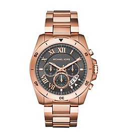 Michael Kors® Men's 44mm Rose Goldtone Brecken Chronograph Watch