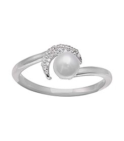 Willow Simulated Pearl Bypass Ring