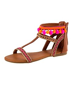 Nanette Lepore Girls' Pom Pom Sandals