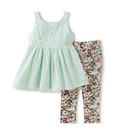 Calvin Klein Jeans Girls' 2T-6X 2-Piece Tunic And Legging Set
