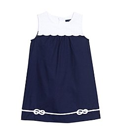 Nautica® Girls' Dress with Eyelet Scallop Bib