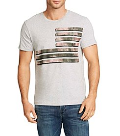William Rast® Men's Short Sleeve Flag Of Mixed Camo Graphic Tee