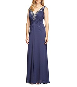 Alex Evenings® Beaded V-Neckline Gown
