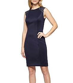 Alex Evenings® Back Lace Insert Shift Dress
