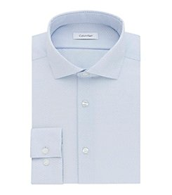 Calvin Klein Men's Slim Fit Text Print Dress Shirt