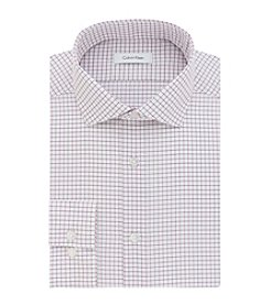 Calvin Klein Men's Slim Fit Check Spread Dress Shirt