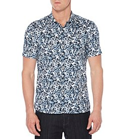 Perry Ellis® Men's Short Sleeve Printed Button Front Shirt