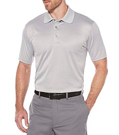 PGA TOUR® Men's Mini Windowpane Jacquard Polo