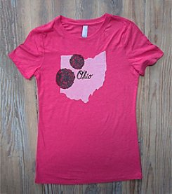 Megan Lee Designs Ohio Carnations Tee