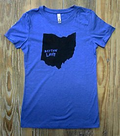 Megan Lee Designs Love Dayton Ohio Tee