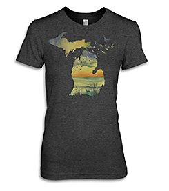 The Michigan Outfitter Sunset Birds Tee