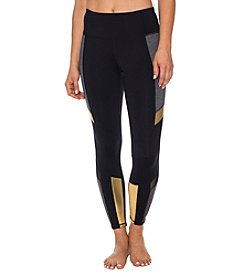 Betsey Johnson® Performance Colorblock Metallic Insert Leggings