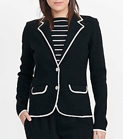 Lauren Ralph Lauren® Stretch Cotton Sweater Blazer