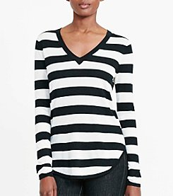 Lauren Ralph Lauren® Striped Silk-Blend Sweater