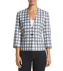 Nine West® Check Print Jacket