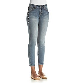 Earl Jean® Vine Embroidered Ankle Jeans