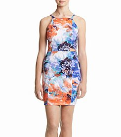 XOXO® Floral Swirl Print Dress With Cutouts