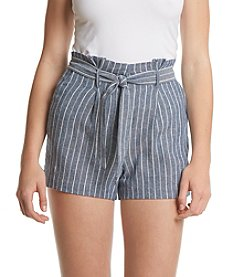 XOXO® Striped Belted Shorts