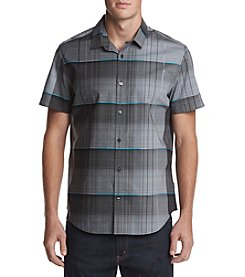 Calvin Klein Short Sleeve Blown-Up Dynamic Button Down