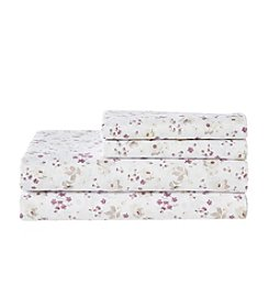 Living Quarters Easy Care Floral Microfiber Sheet Set