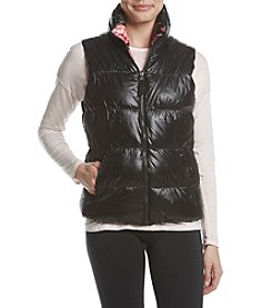 Betsey Johnson® Performance Reversible Print Puffer Vest