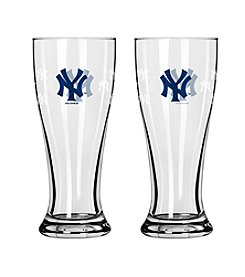 Boelter Brands MLB® New York Yankees 2-Pack Mini Pilsner Glasses