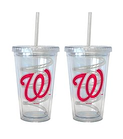 Boelter Brands MLB® Washington Nationals 2-Pack Swirl Straw Tumbler Glasses