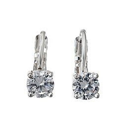 BT-Jeweled Cubic Zirconia Drop Earrings