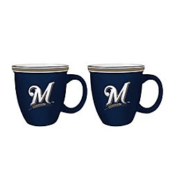 Boelter Brands MLB® Milwaukee Brewers 2-Pack Bistro Mugs