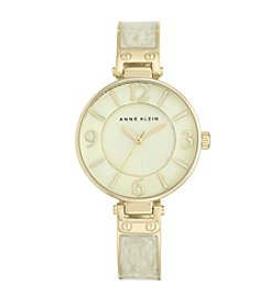 Anne Klein® Ivory Marble Enamel Bangle Watch