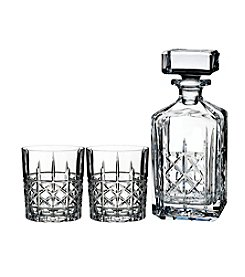 Marquis by Waterford Brady Decanter and Double Old Fashioned Glasses Set