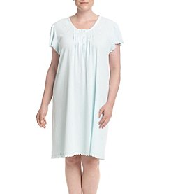 Miss Elaine® Plus Size Embroidered Nightgown
