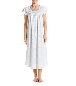 Miss Elaine® Scroll Printed Long Nightgown