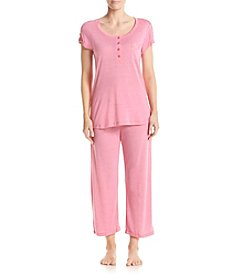Miss Elaine® Lace Trim Pajama Set