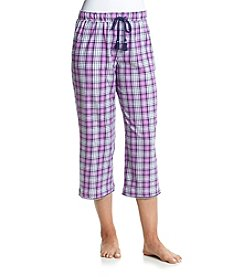 KN Karen Neuburger Plaid Printed Capri