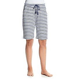 KN Karen Neuburger Striped Bermuda Shorts