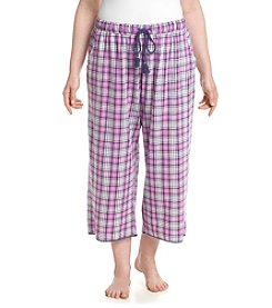 KN Karen Neuburger Plus Size Plaid Capri