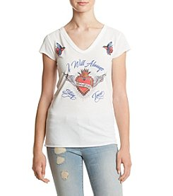 William Rast® Viva Sacred Heart Graphic Tee