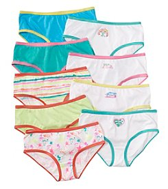 Maidenform® Girls' 9-Pack Hipster Underwear