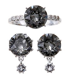 City x City Crystal Duo Earrings And Ring Set