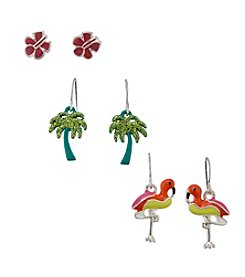 Studio Works® Tropical Themed Earrings Trio