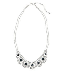 BT-Jeweled Montana & Rhinestone Collar Necklace