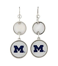 accessory PLAYS™ NCAA® Michigan Wolverines Double Disk Drop Earrings