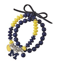 accessory PLAYS™ NCAA® Michigan Wolverines Stretch Charm Bracelet Set