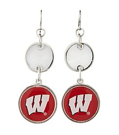 accessory PLAYS™ NCAA® Wisconsin Badgers Double Disk Drop Earrings