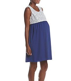 Three Seasons Maternity™ Lace Solid Dress