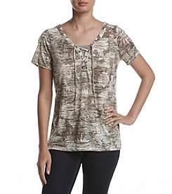 Breckenridge® Tie Front Knit Top