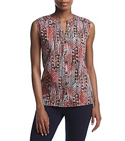 Breckenridge® Y Neck Woven Top